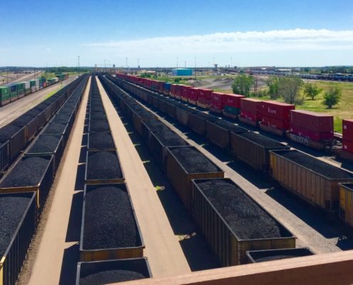 6 track coal rail yard