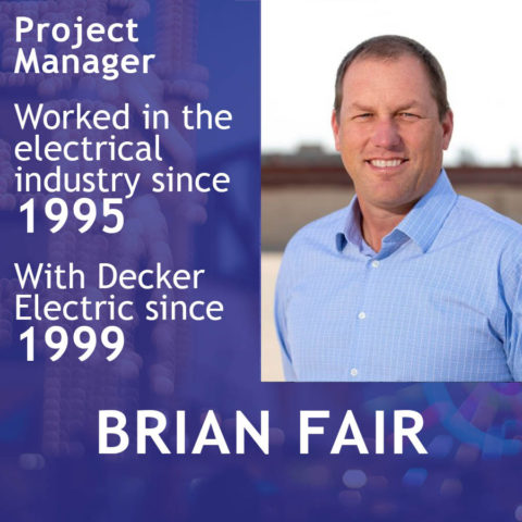 Picture of Brian Fair with profile information of his electrical experience