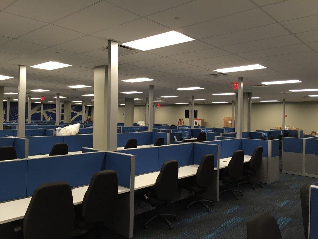image of work area inside Convergys building