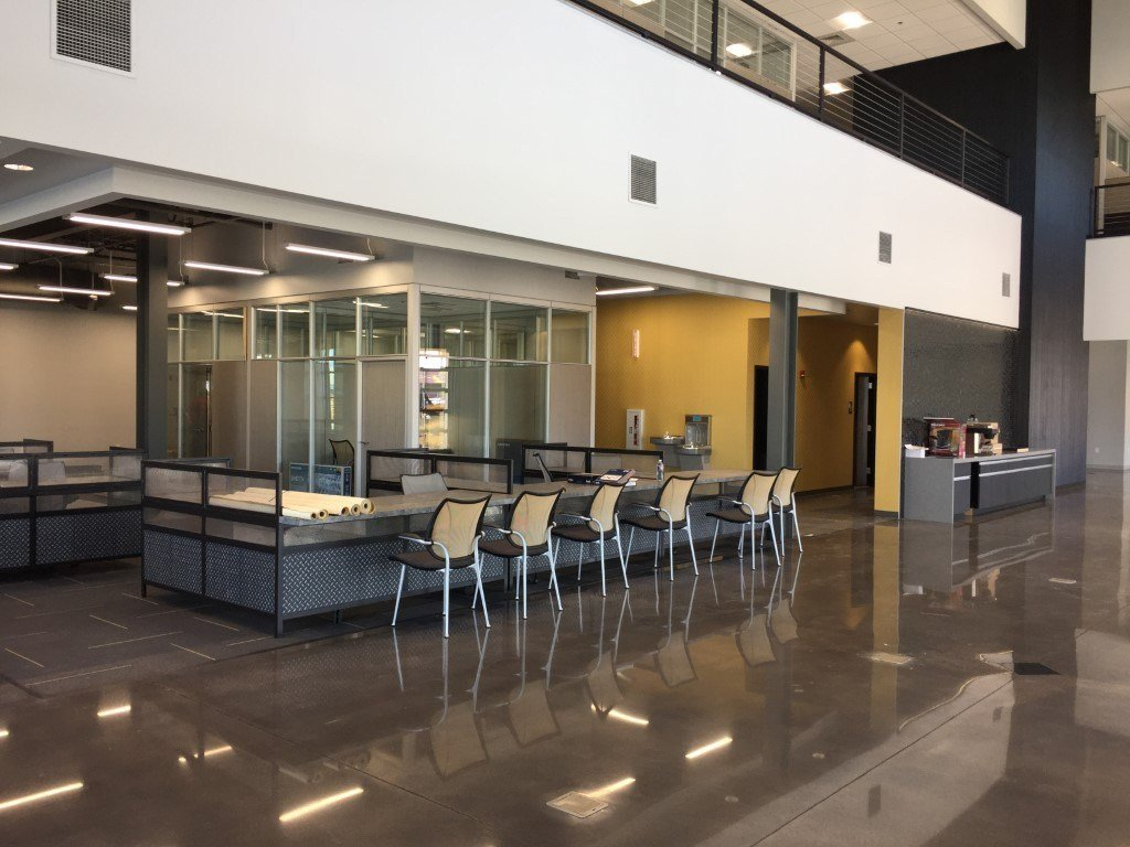 image of the inside of the Foley equipment office building
