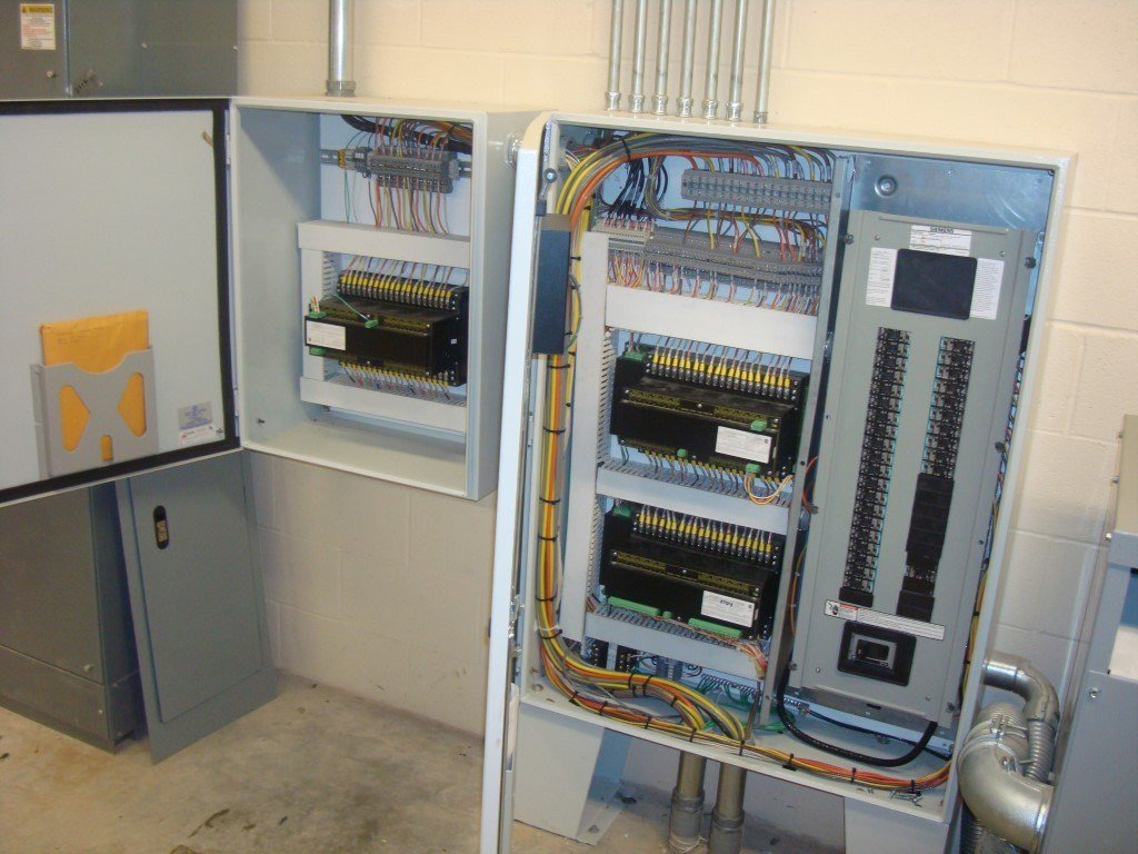 image of control panels with doors open