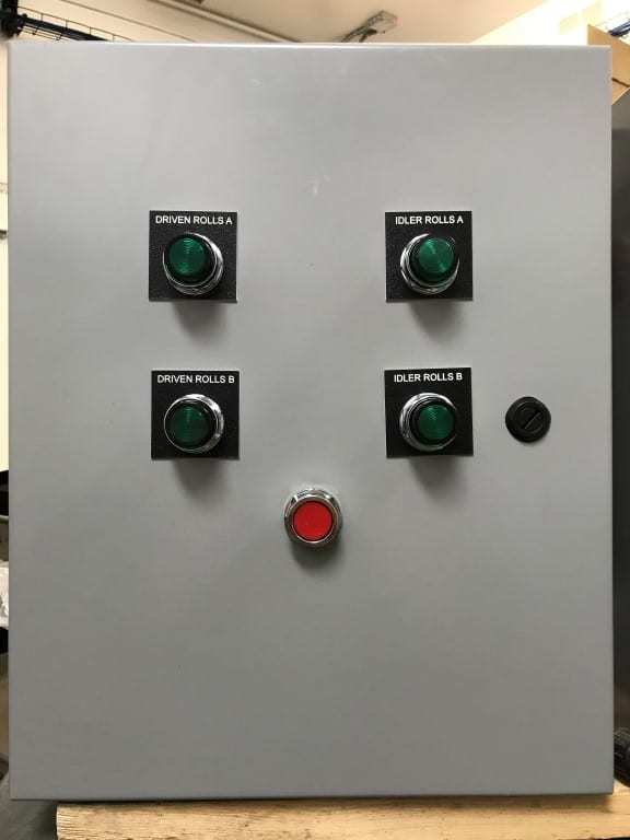photo of control buttons including