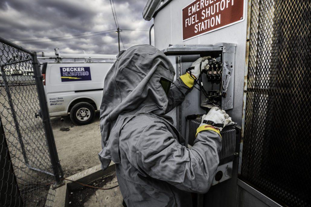 Decker Electrical work for emergency service