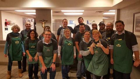 Decker team volunteering at Wichita's Lord's Diner