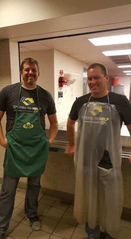Decker staff members helping in the kitchen at the Lord's Diner in Wichita