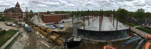 photo of a large construction project happening on a Wichita detention facility