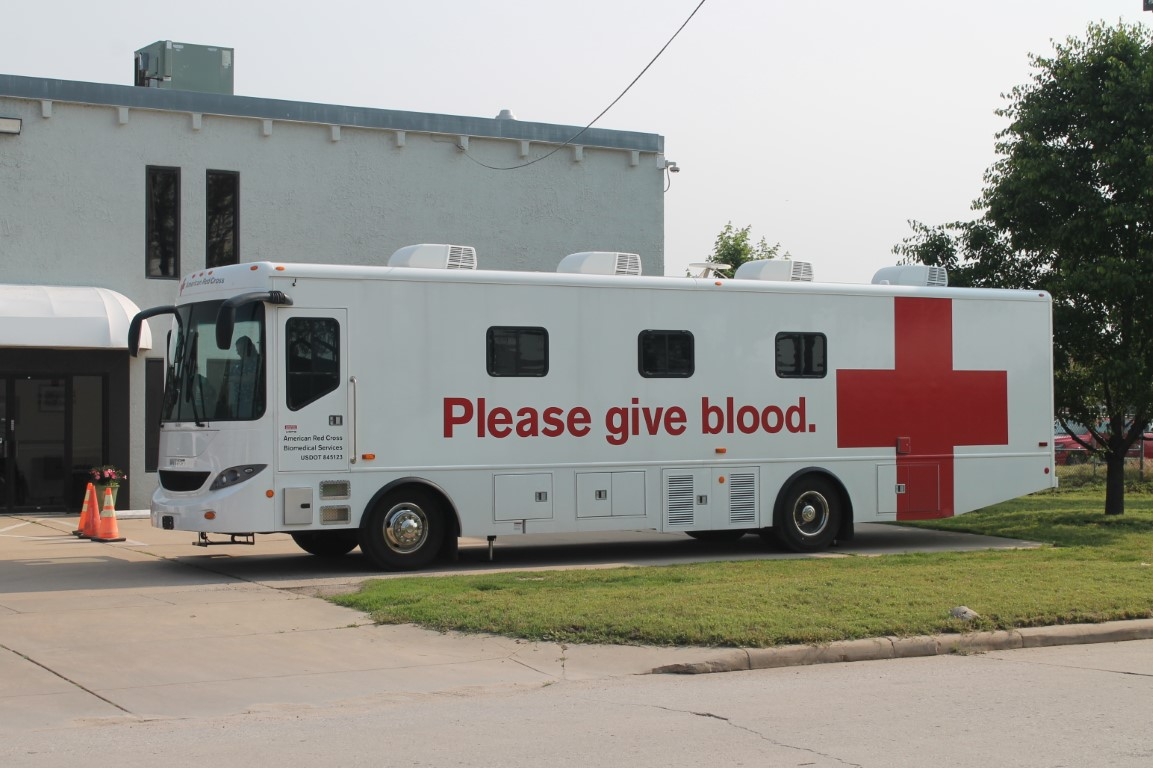 the American Red Cross bus
