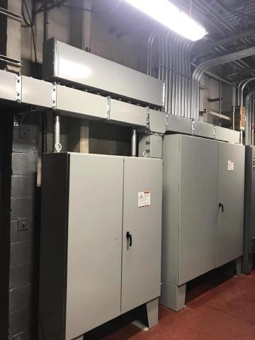 electrical panels inside a facility