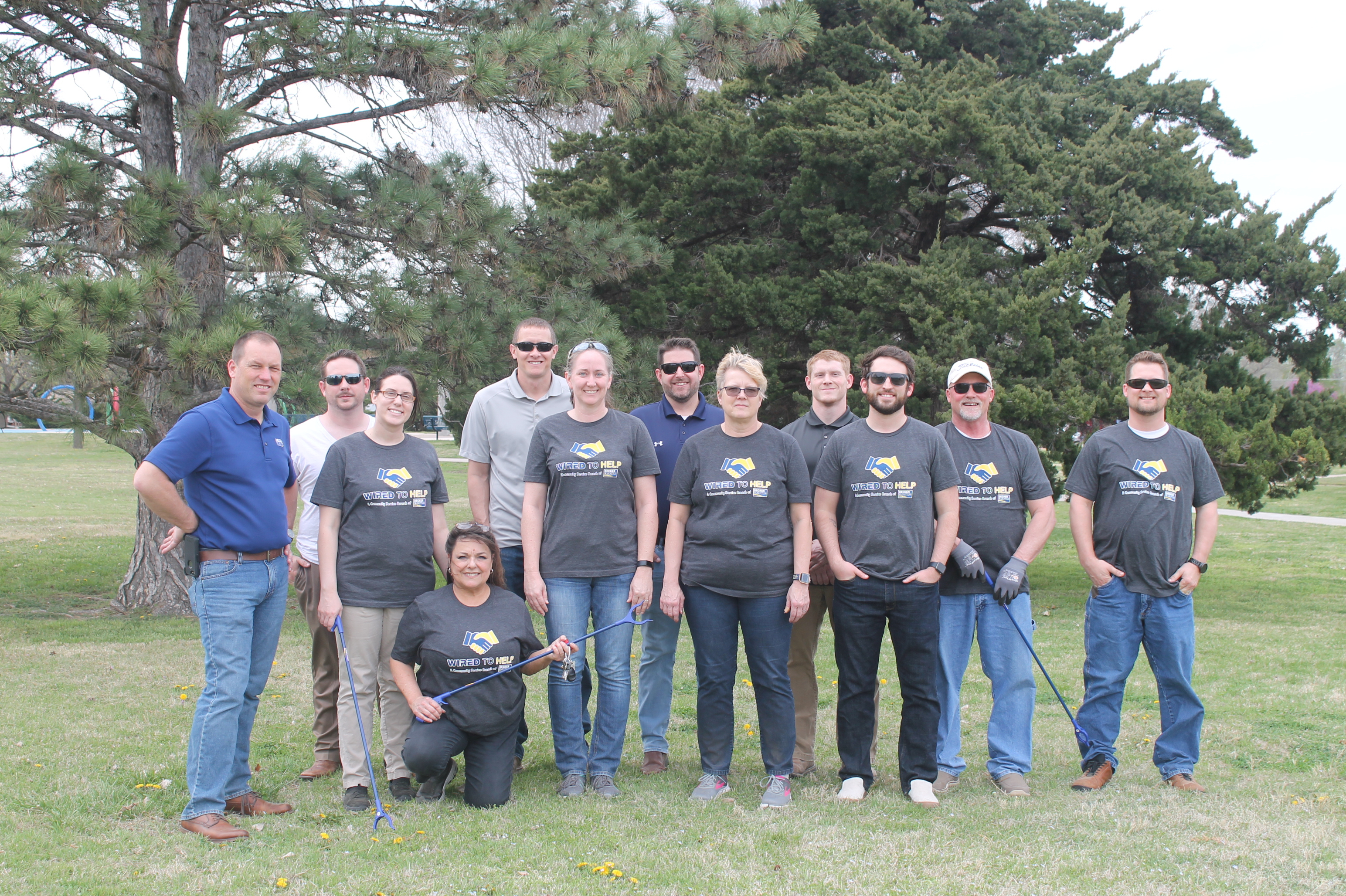 Osage Park Cleanup volunteers are Decker Electric staff